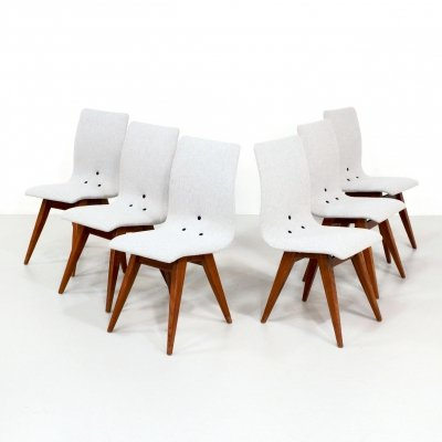 Set of 6 dining chairs by G. van Os for Van Os Culemborg, 1960s