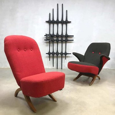 Vintage Dutch design Congo & Pinguin chair by Theo Ruth for Artifort