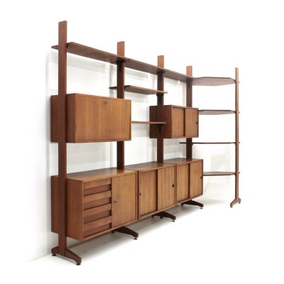 Italian Mid century wall unit with corner, 1960s