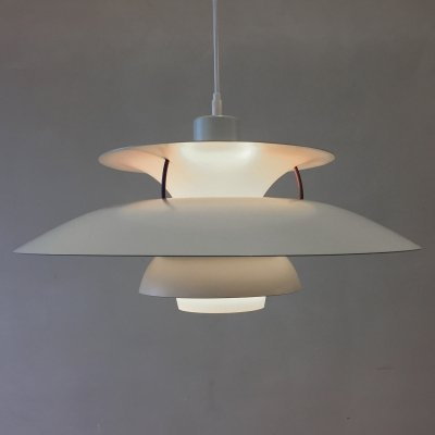 White PH5 pendant by Poul Henningsen for Louis Poulsen, 1960s