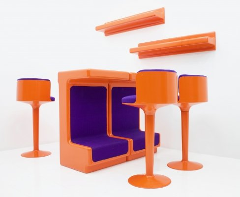Fiberglass Bar Set by Wolfgang Feierbach, Germany 1974