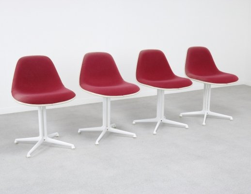 Set of 4 La Fonda Hopsak dining chairs by Charles & Ray Eames for Vitra, 1960s
