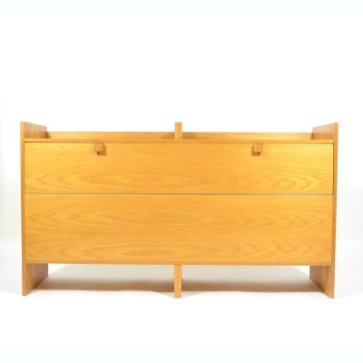 Oak Veneer Blanket Box/Hall Cupboard by Krásná Jizba, 1970s