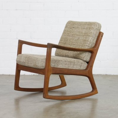 Rocking chair by Ole Wanscher for Cado, 1960s