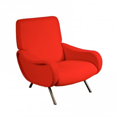 First Edition 'Lady' Easy Chair by Marco Zanuso for Arflex, Italy 1950s