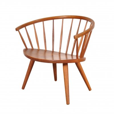 Oak 'Arka' Easy Chair by Yngve Ekström, 1950s