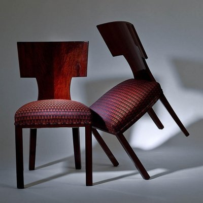 Pair of Art deco dining chairs, 1920s