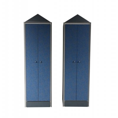 Pair of Wardrobe Cabinets, Italy 1980s