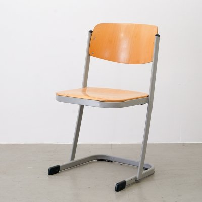 School chair with typical U-runner