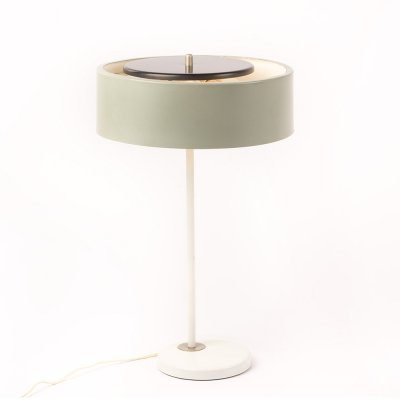 Rare vintage desk lamp by Artimeta Soest with a light grey green shade
