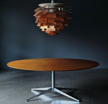 Pedestal Table Desk by Florence Knoll for Knoll, 1970s