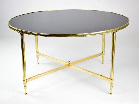 French Mid-Century Bronze Coffee Table, 1970's