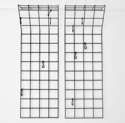 2 x coat rack by Karl Fichtel for Drahtwerke Erlau, 1950s