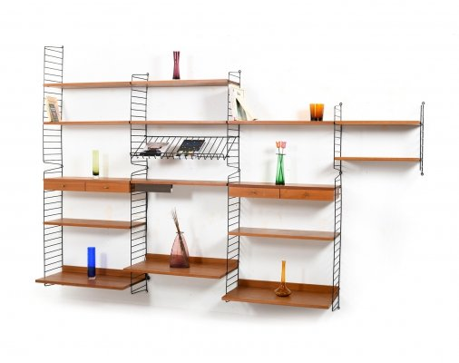Teak Shelf System by Kajsa & Nils Nisse Strinning, 1950s