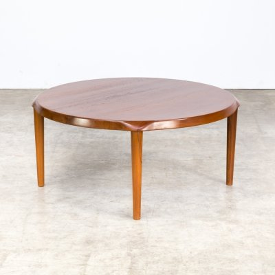 John Boné teak round coffee table for Mikael Laursen, 1960s