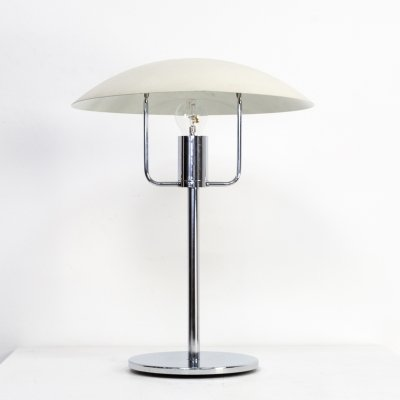 Chrome & metal table lamp for SCE, 1970s