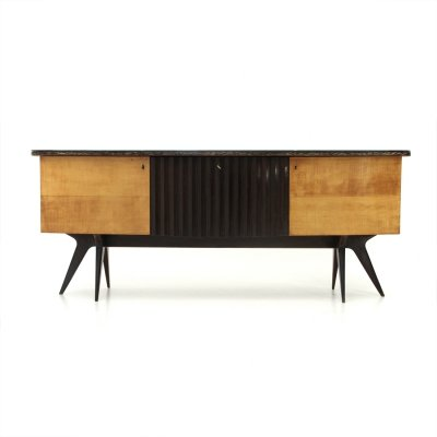 Italian Mid-century sideboard with bar, 1950s