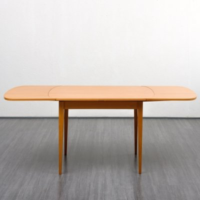 Midcentury Dining Table In ashwood with Extension Leaves