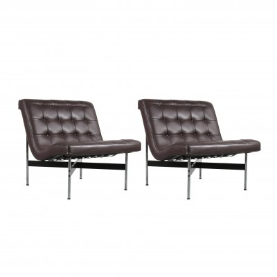 Pair of William Katavolos Lounge Chairs for ICF Milano, Italy 1990s