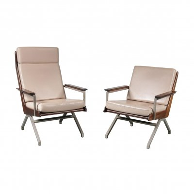 Pair of Rob Parry Lounge Chairs for Gelderland, Netherlands 1960s