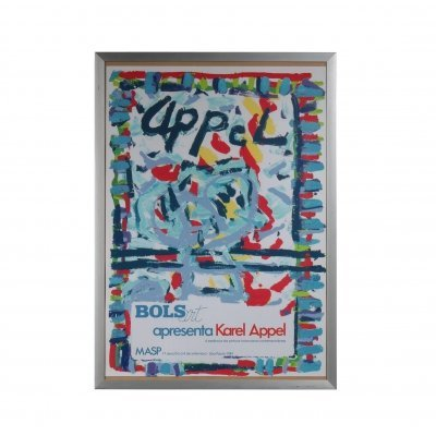 Karel Appel Lithograph for the Bols Art Exhibition, Brazil 1981