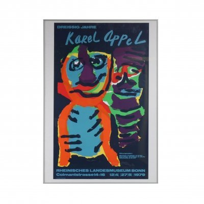 Karel Appel Silk Screen for the Rheinisches Landesmuseum Bonn, Germany 1979