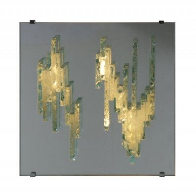 RAAK Sculptural Glass 'Model C1517' Wall Sconce, Netherlands 1960s