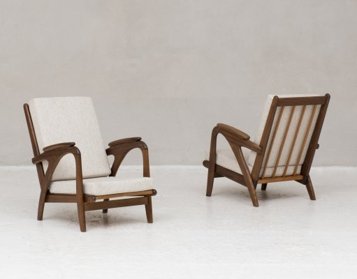 Set of two easy chairs produced in Holland in 1960