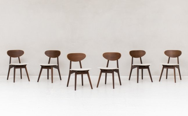 Set of 6 dining chairs by Louis van Teeffelen for Wébé, Holland 1950's