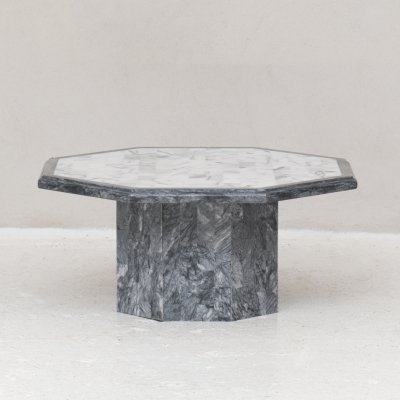Octagon coffee table in marble