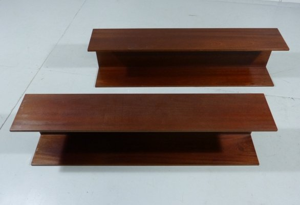 Set of 2 Wall Shelves by Walter Wirz for Wilhelm Renz, 1960's