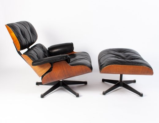 Vintage Eames Lounge Chair + Ottoman for Herman Miller, 1960s