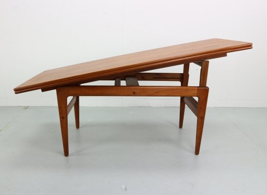 Extendable Kai Kristiansen Elevator Table, Denmark 1960s