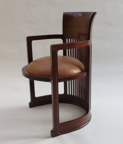 1980s Barrel 606 Taliesin Chair by Frank Lloyd Wright for Cassina