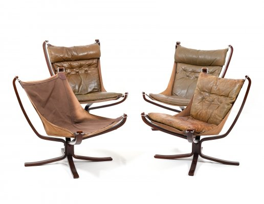 Set of 4 Falcon Lounge Chairs by Sigurd Ressell