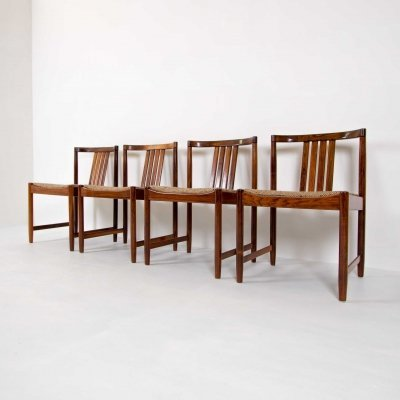 Set of 4 Dining chairs in Rosewood