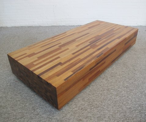 Large handmade Aulia coffee table by Henk Vos for Linteloo, 1990s