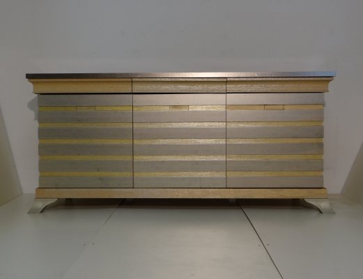 Gold Hollywood regency cabinet, 1980s