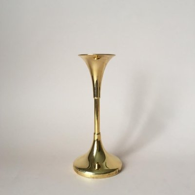 Vintage Swedish Brass Candle Holder