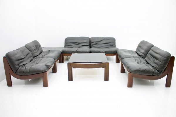 Large Modular Living Room Set with two Coffee tables, 1970s