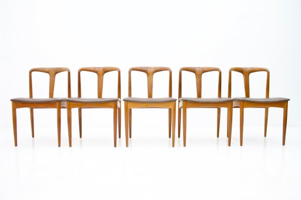 Set of 5 'Juliane' Dining Room Chairs by Johannes Andersen