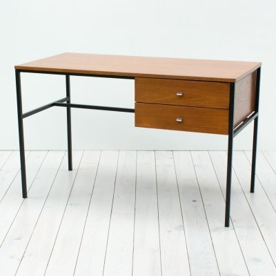 1960s Belgian Teak Desk by Pierre Guariche for Meurop