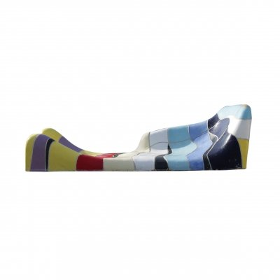 Jan Snoeck Ceramic Sculpture / Daybed from the MS Volendam, Netherlands 1991