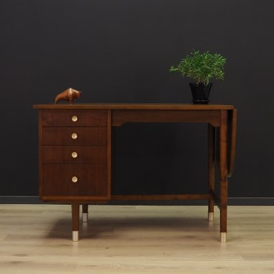 Vintage walnut writing desk, 1970s