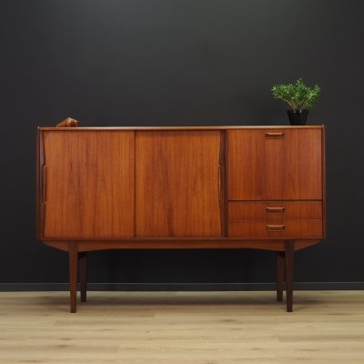 Vintage highboard in teak, 1970s