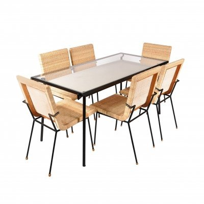 Dining Set by Carlo Pagani for Metz & Co., Netherlands 1950s
