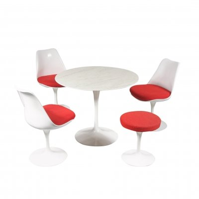'Tulip' Dining set by Eero Saarinen for Knoll International, USA 1980s