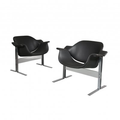 Pair of J.B. Meyer Lounge Chairs for Kembo, Netherlands 1960s