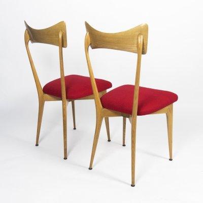 Set of 2 beech chairs by Ico & Luisa Parisi, 1947
