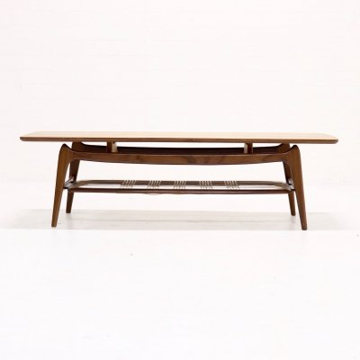 Teak Coffee Table by Louis van Teeffelen for WeBe, 1950's